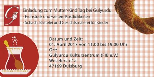 1. Mutter und Kindtag 01.04.2017
