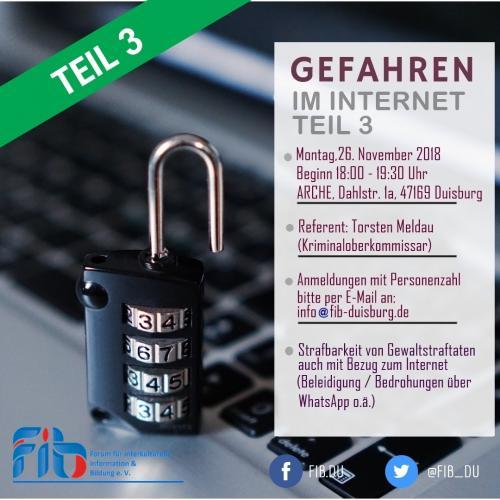 Seminar Gefahren im Internet Teil 3, 26.11.2018
