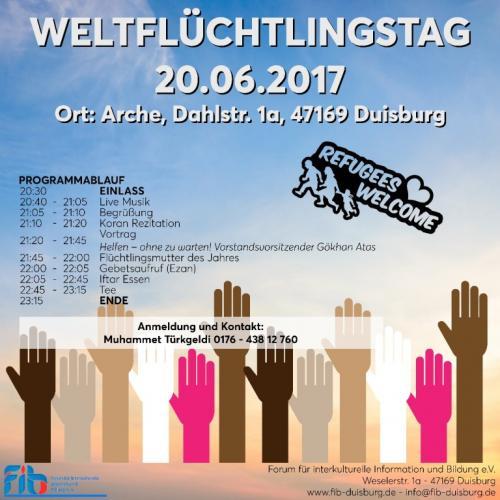 Weltflüchtlingstag 20.06.2017