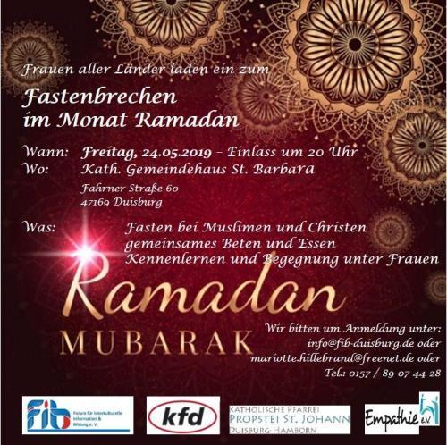 Frauen zum Fastenbrechen im Monat Ramadan 24.05.2019