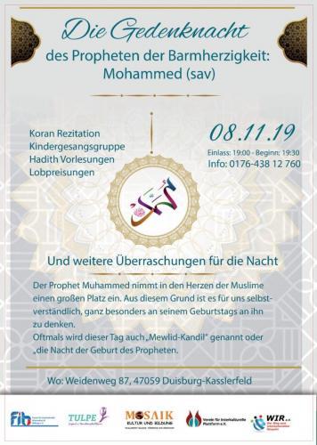Die Gedenknacht des Propheten der Barmherzigkeit 08.11.2019
