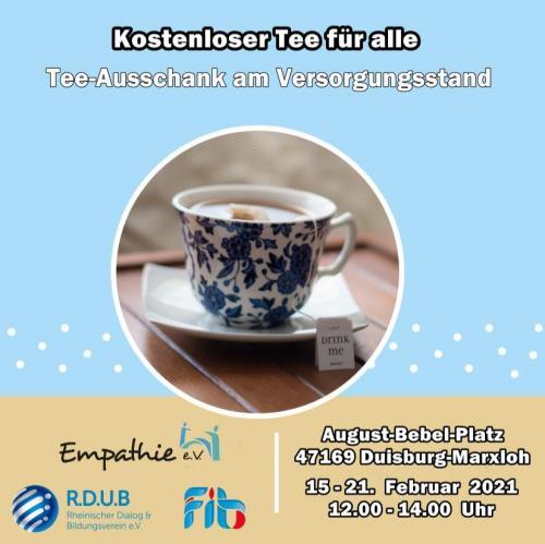 Tee-Ausschank auf dem August-Bebel-Platz 15.02.2021